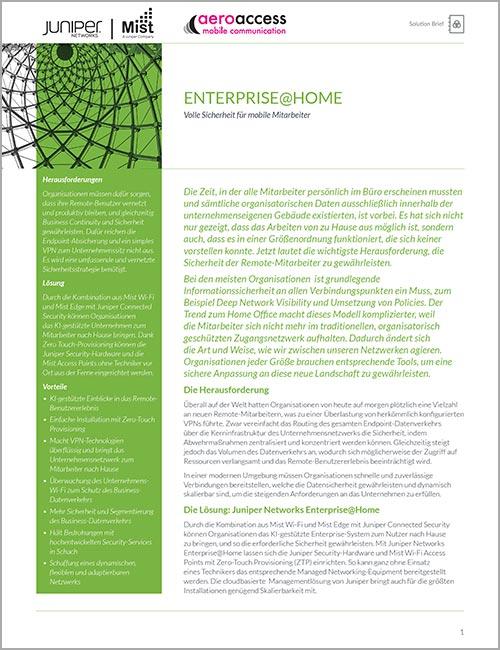 Enterprise at Home – Volle Sicherheit für mobile Mitarbeiter