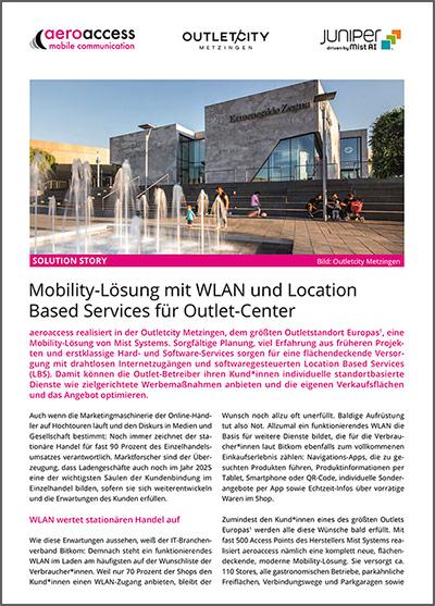 Mobility-Lösung mit WLAN und Location Based Services für Outlet-Center