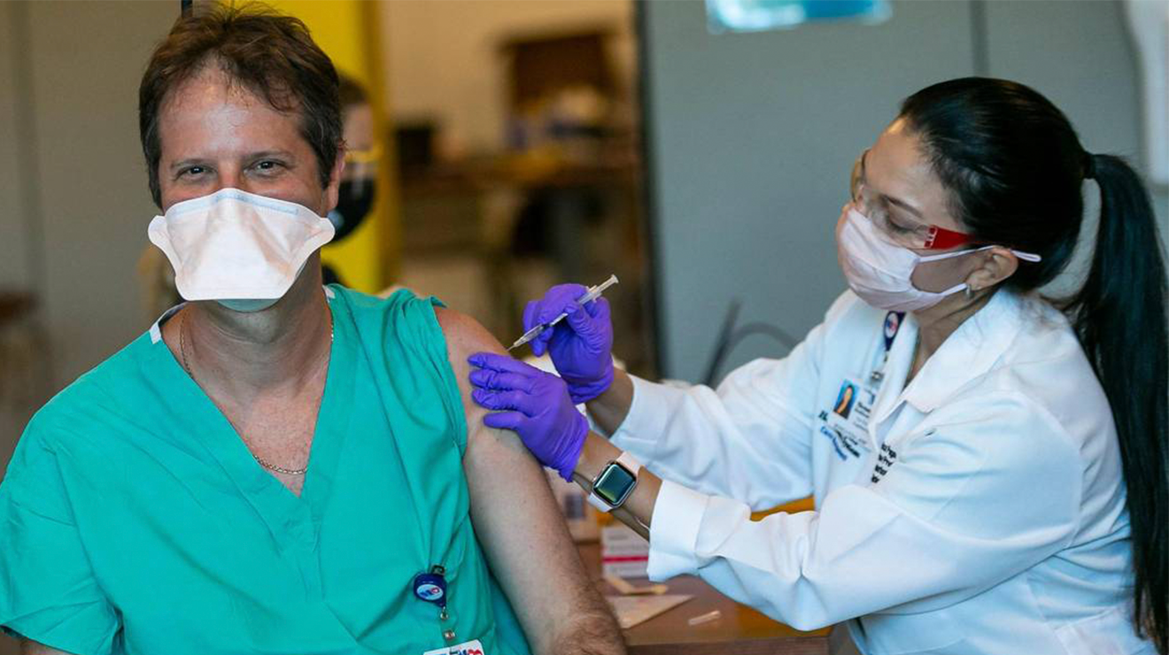 First South Florida Hospital Workers Get Vaccinated in Broward