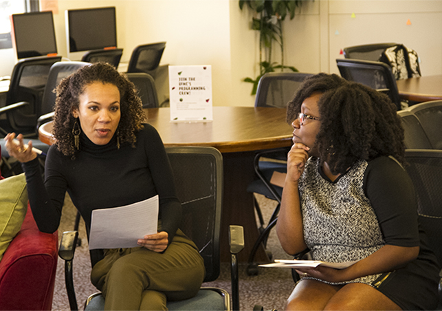 Black History Month celebration included a Beyond the Classroom discussion with new professors Dr. Angela Nurse and Dr. Channon Miller.