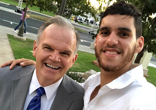 President Harris and Jose Martinez