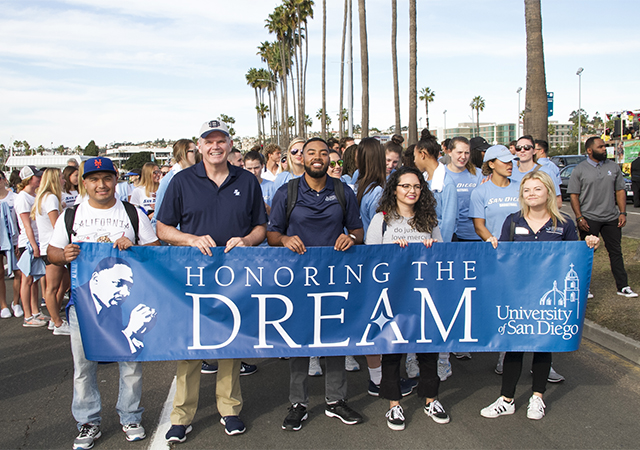 President Harris, students at Martin Luther King Jr. Parade