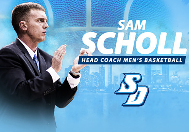 Sam Scholl is the new USD men's basketball head coach.