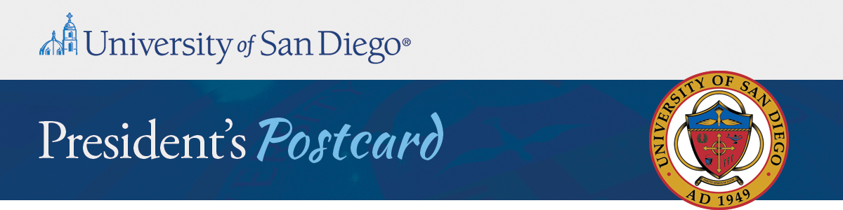 University of San Diego - President's Postcard