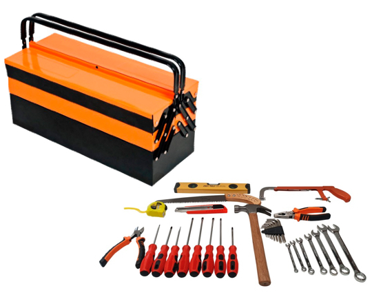 Caja de herramientas de 34 piezas