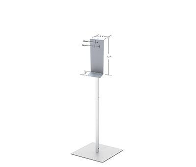 48'' Fixed Upright Stand with Square Base