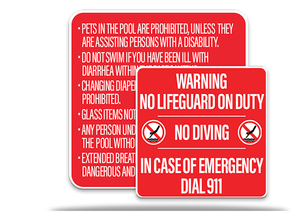 Pool Rules Sign Combo Package 1