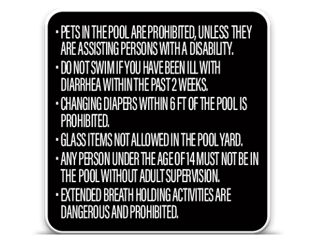 Pool Rules Secondary 1