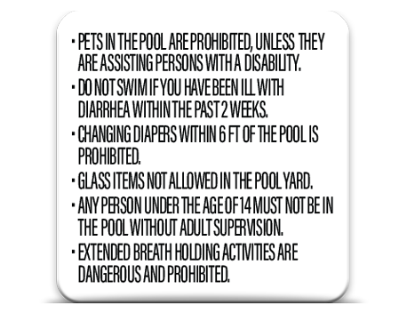 Pool Rules Secondary 3