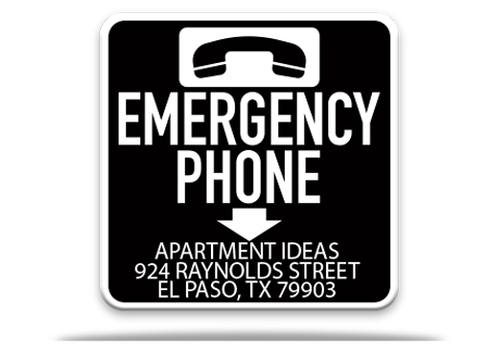 Pool Emergency Phone Sign 1