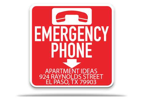 Pool Emergency Phone Sign 2