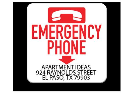 Pool Emergency Phone Sign 3