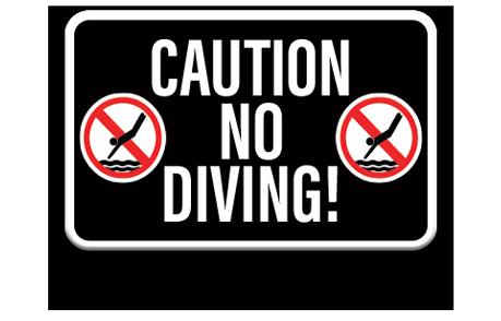 Pool No Diving Sign 1