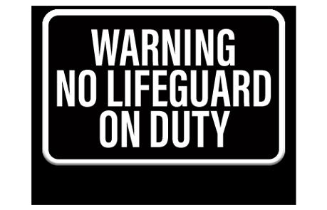 Pool No Lifeguard Sign 1