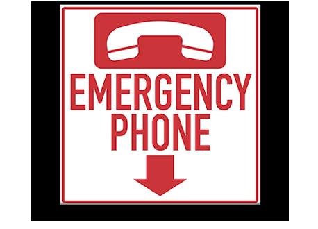 Pool Emergency Phone Sign