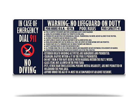 Pool Rules Combined Sign