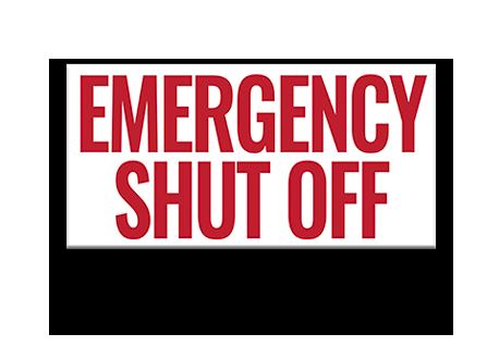 Pool Emergency Shut Off Sign