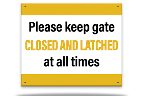 Pool Sign Gate Closed