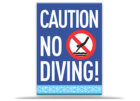 Pool Sign Caution No Diving