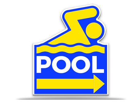 Pool Sign Directional Cutout