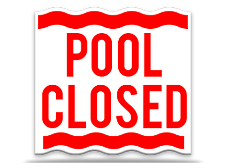 Pool Sign Closed