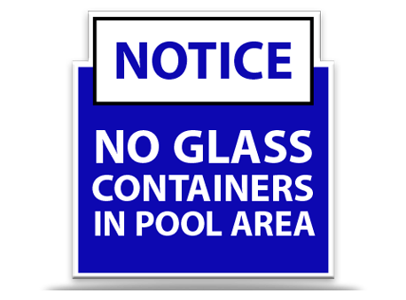 Pool Sign No Glass Containers