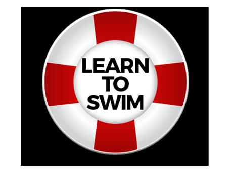 Pool Sign Learn to Swim