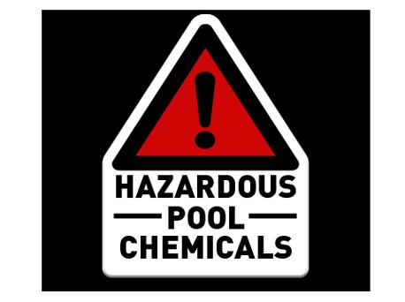 Pool Sign Hazardous Pool Chemicals