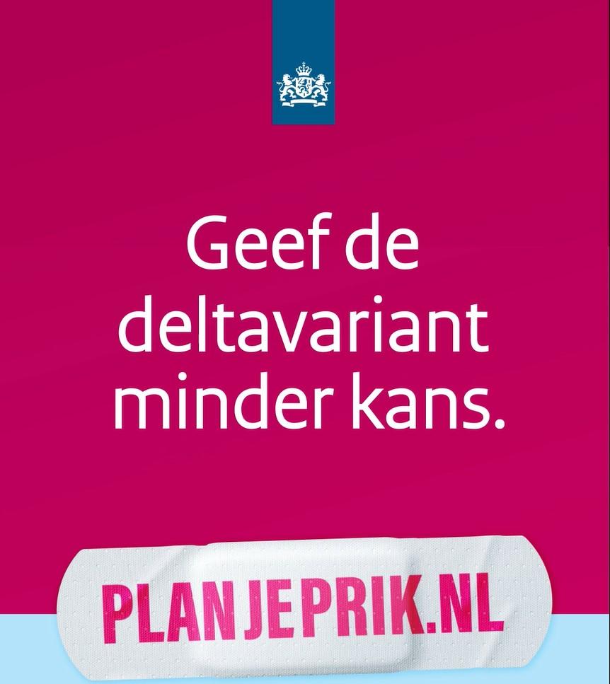 Social post Plan je prik: Deltavariant