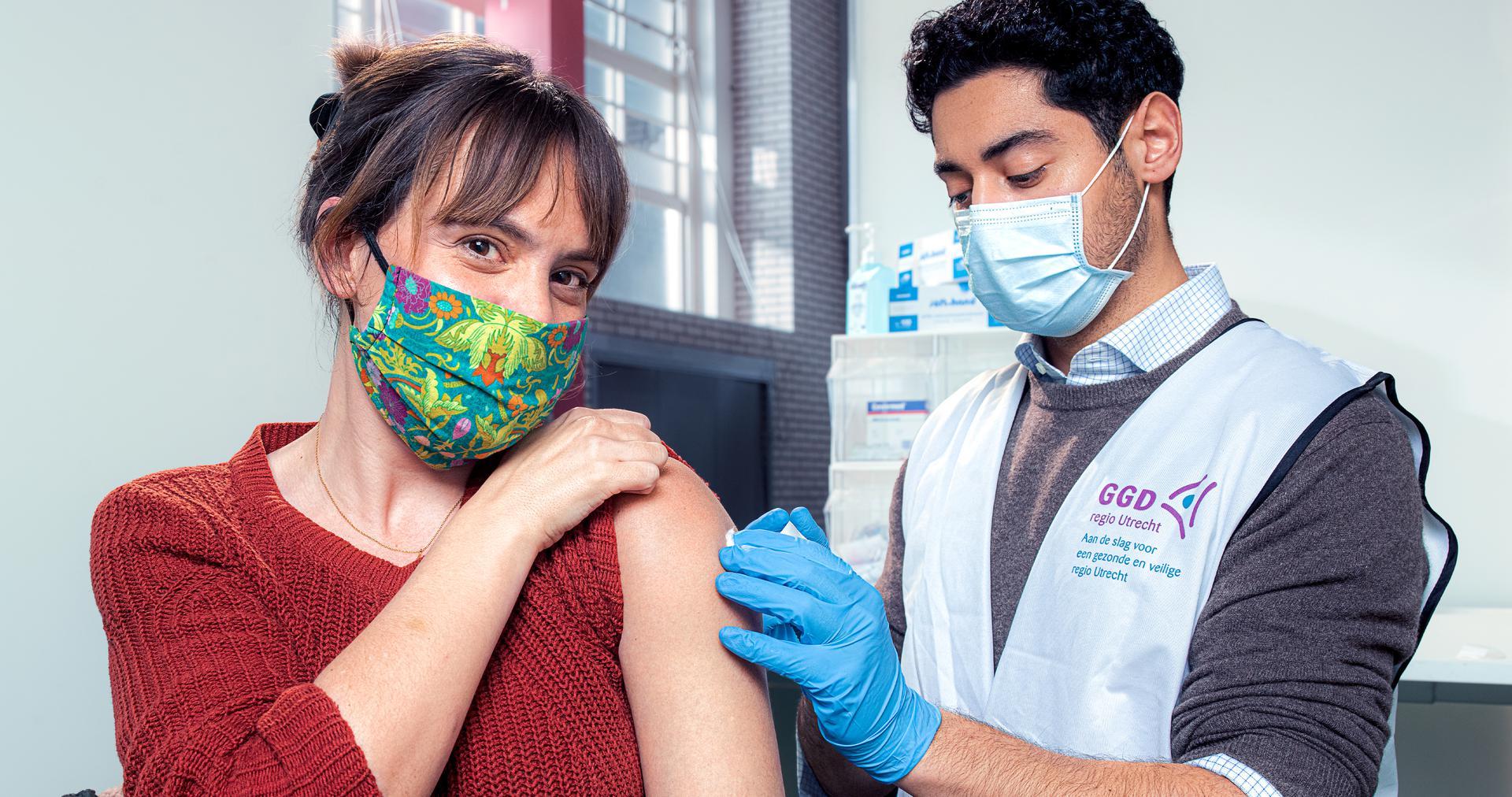 Campagnebeeld coronavaccinatie