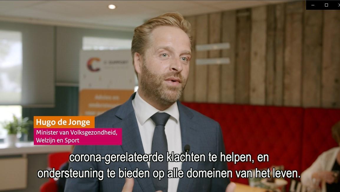 Video 'Bezoek minister De Jonge bij C-support'