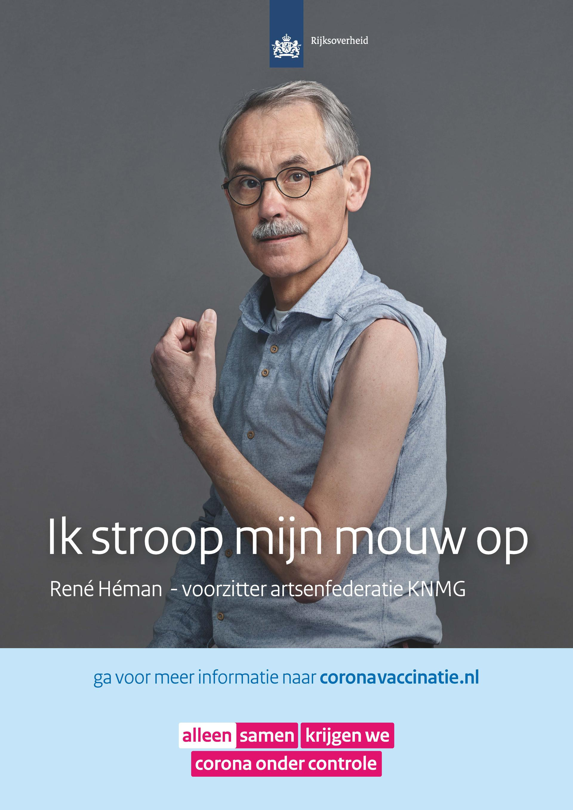 Poster René Héman - voorzitter artsenfederatie KNMG