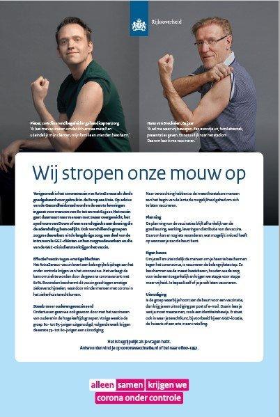 Advertentie 'Wij stropen onze mouw op'