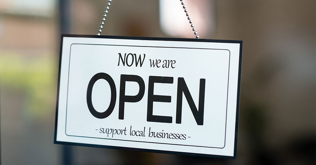 Open Support Local Business