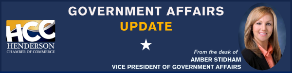 Henderson Chamber Government Affairs Update banner
