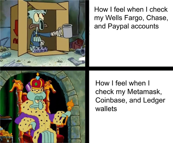 Cartoon of How I feel when I check my Wells Fargo, Chase, and Paypal accounts