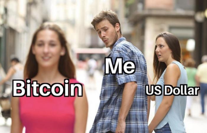 Bitcoin vs me and US Dollar