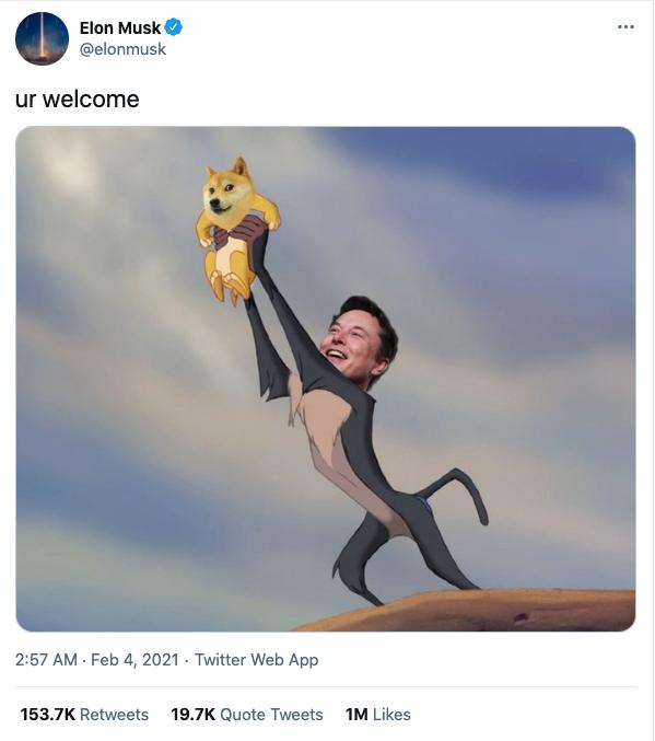 Cartoon of Elon Musk