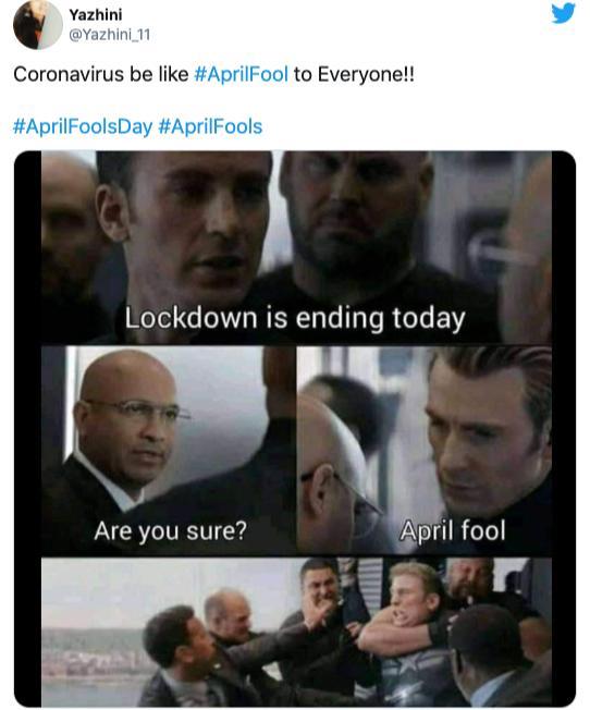 Lockdown is ending today! April Fool