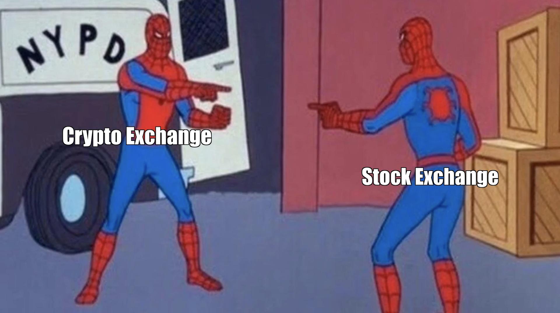 Crypto Exchange and Stock Exchange