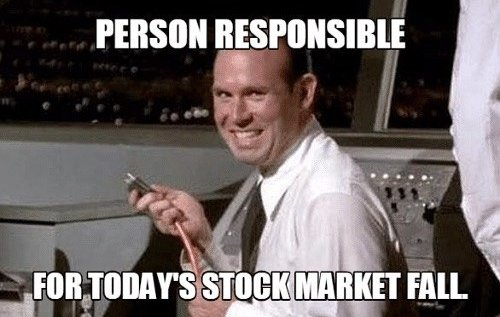 Person responsible for today's stock market fall