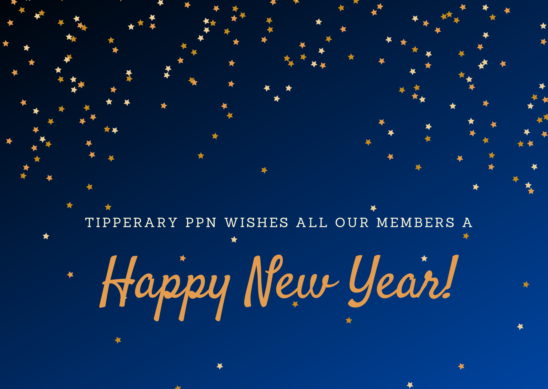 Happy new year to all our members
