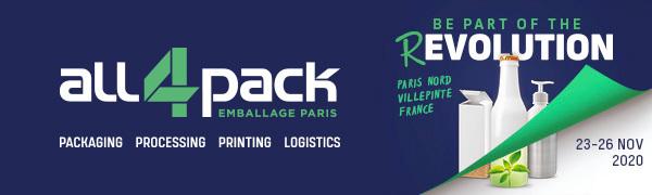 ALL4PACK 2020 - Rendez-vous du 23 au 26 novembre 2020 à Paris Nord Villepinte