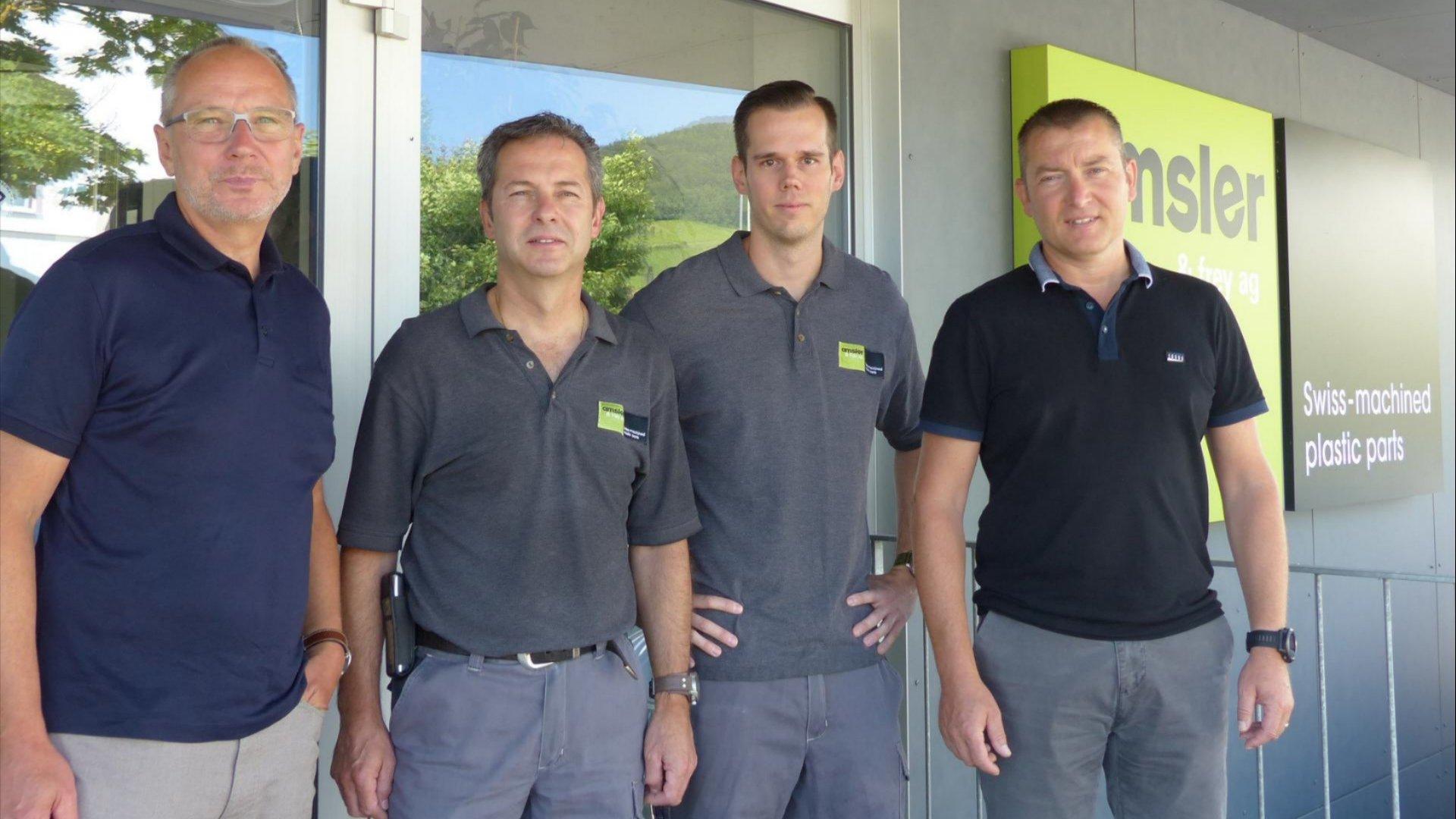 Jürg Solenthaler, Michael Rüthi, Marcel Heiniger und Thomas Gloor (vlnr.)