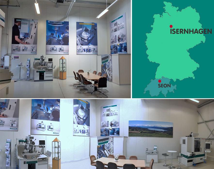 Showroom Isernhagen/Germany Fehlmann AG, machine tools, live demonstration