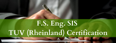 F.S. Eng. SIS TUV (Rheinland) Certification