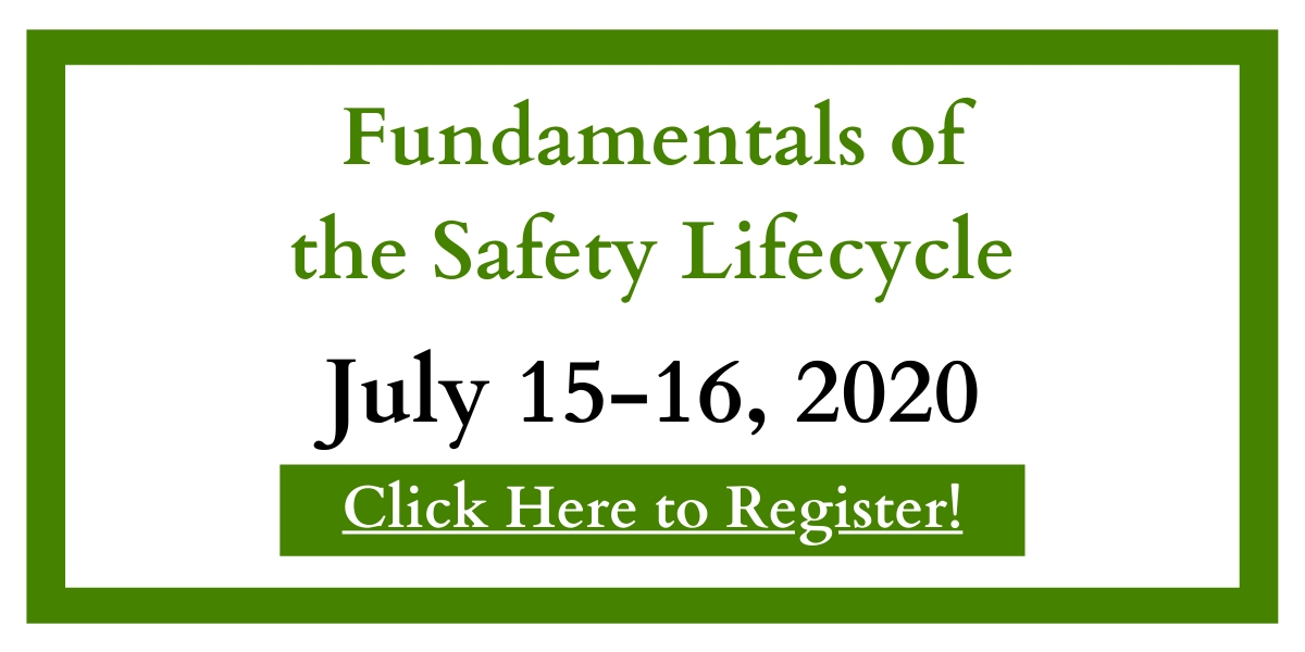 Register for Fundamentals of the Safety Lifecycle