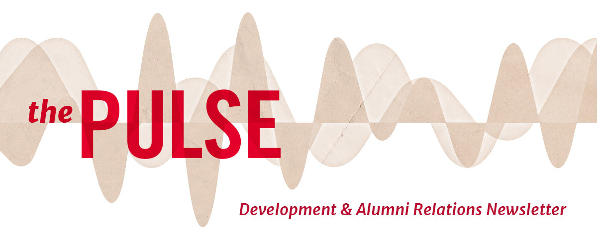 The Pulse - Development and Alumni Relations Newsletter header