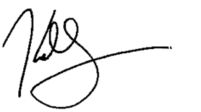 Kelly's signature