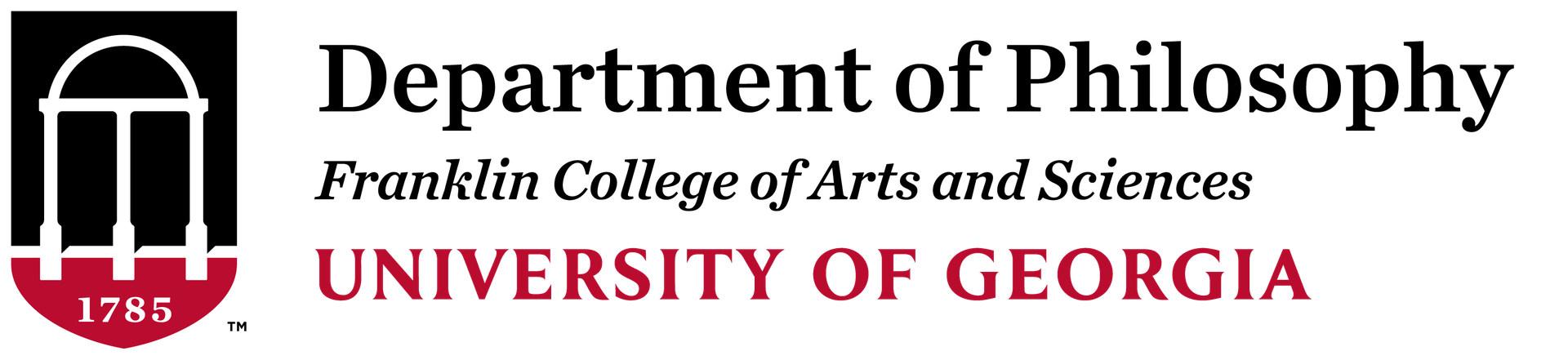 UGA Department of Philosophy logo